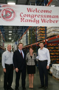 From L to R: Peter Williamson, Vice President, Business & Community Relations; U.S. Rep. Randy Weber and wife Brenda Weber; Larry Del Papa, President.